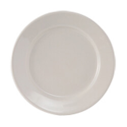 Off-White Rolled Edge China Plates