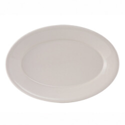 Off-White Rolled Edge China Platters