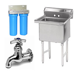 Restaurant Sinks and Plumbing Equipment
