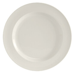 White Rolled Edge China Plates