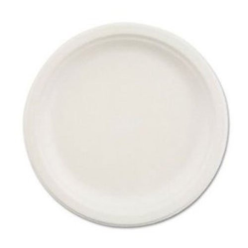 Chinet Plate, White, 10.5 Inch Molded Fiber, Case of 500 - Part No. 21217