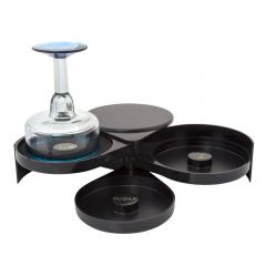 3-Tier Glass Rimmer with Replaceable Sponge