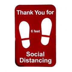 """Tablecraft 10540 Thank You for Social Distancing Sign - 9"""" x 6"""""""