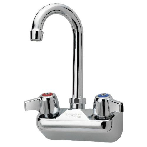 Faucet, Wall Mount, Heavy Duty, Gooseneck