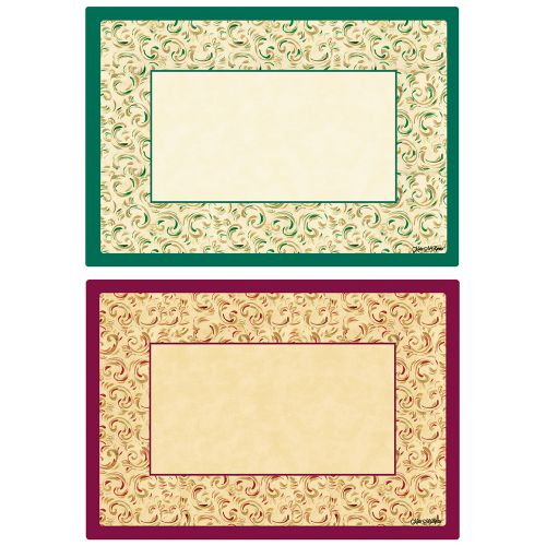 Fancy Swirl Duo Placemats, 9-3/4 x 14, Case of 1000