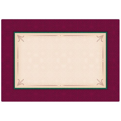 Canterbury Placemat, 9-3/4 x 14, Case of 1000