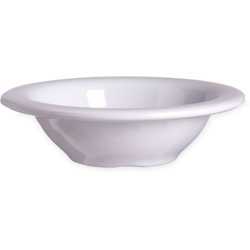 White Rimmed Fruit Bowl 4-1/2 Oz. Melamine Durus Ware, Case of 48