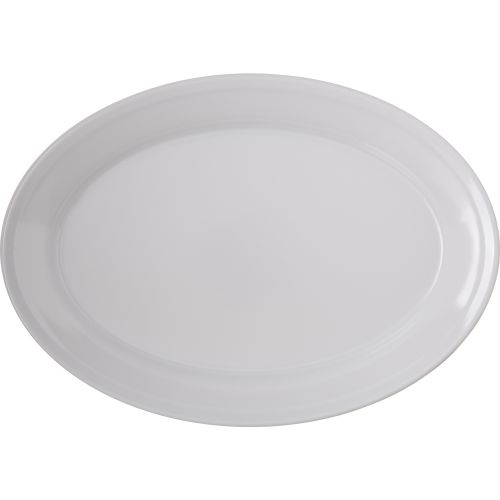 Oval Platter 12x8.5 Melamine Dallas Ware White, Case of 24