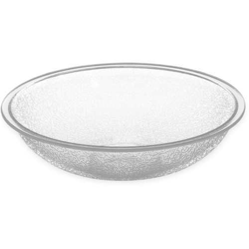 Pebbled Bowl 6 Inch Clear