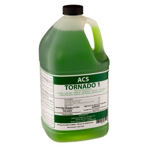 American Chemical Systems 14001403 Tornado One-Step Disinfectant - 1 Gal.