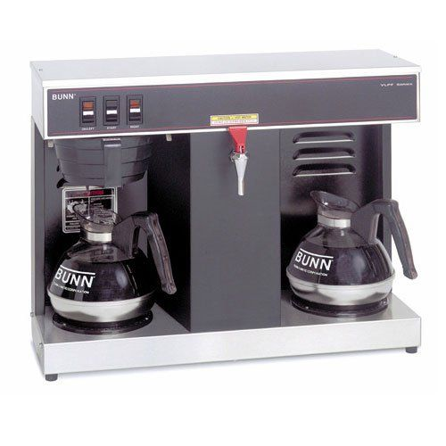 Commercial Coffee Maker, Coffee Brewer, 2 Warmer w/Faucet, Automatic Coffee Maker