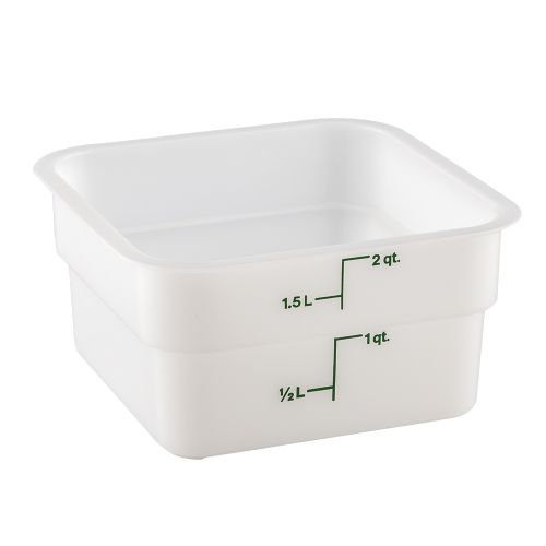 CamSquare 2 Quart White Poly Food Storage Container