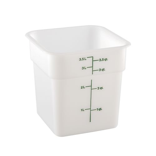CamSquare 4 Quart White Poly Food Storage Container