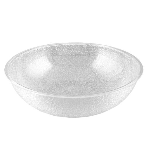 Pebbled Salad Bowl, 12 Inch Round, Clear