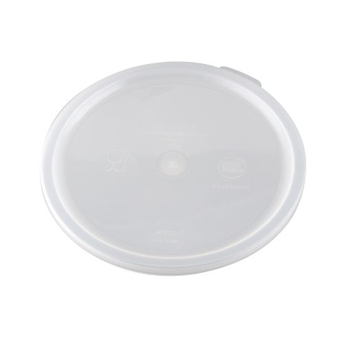 Snap-On Lid for 2 & 4 Quart Round Poly Food Storage Containers
