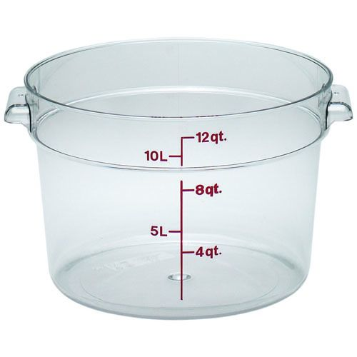 Round Food Storage Container, 12 Qt. Clear Poly