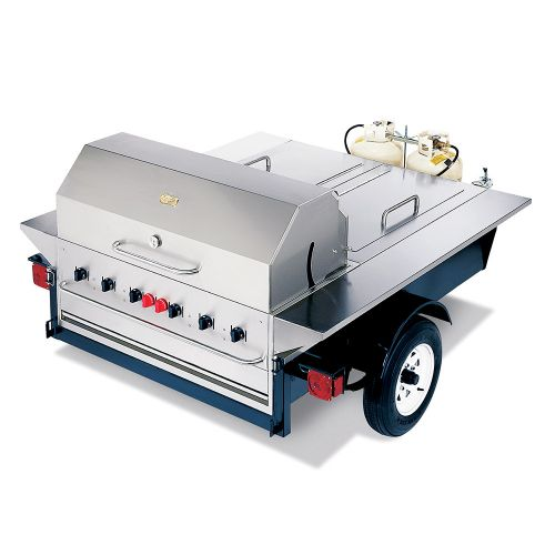 Tailgate Towable Grill w/ Insulated Storage