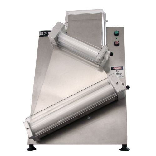 """Double Pass 18"""" Countertop Dough Sheeter with Angled Rollers"""