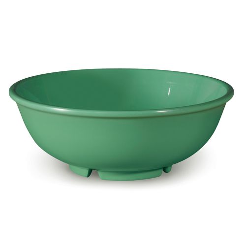 Diamond Mardi Gras 24 Oz Rainforest Green Pasta Salad Bowl - 12/Case