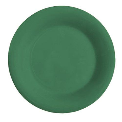 Diamond Mardi Gras 6-1/2 In Rainforest Green Wide Rim Plate - 48/Case
