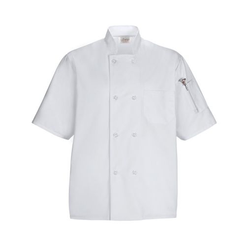 COAT CHEF LIGHTWT WHITE XL