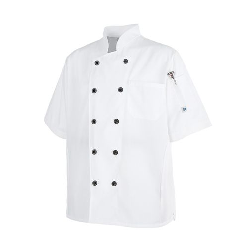 COAT CHEF COOKCOOL SS WHT SML