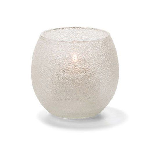 Tealight Lamp, Bubble Style, Glass, Clear Ice, 2-3/8 H x 2-9/16 Diameter