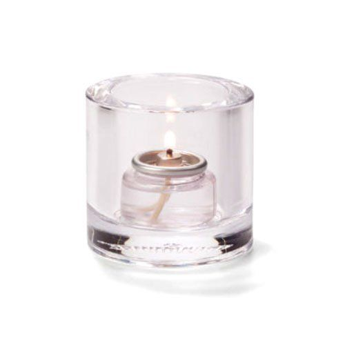 Tealight Lamp, Thick Glass, Round, Clear