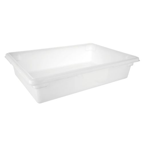 "Full Size White Food Box (6"" Deep)"