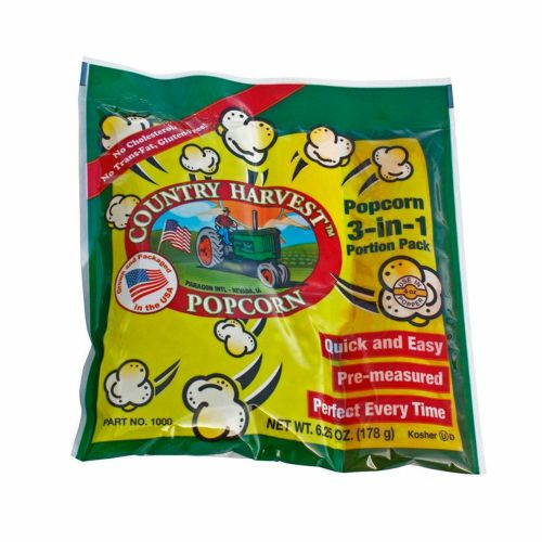 Country Harvest 4 oz. Tri-Pack Portion Popcorn Pack - Case of 24