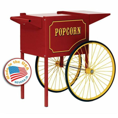 Medium Red Cart for 6 and 8 oz Popcorn Machines