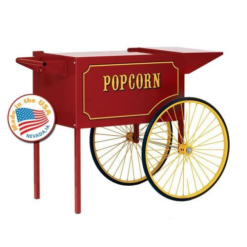 Larage Red Cart for 12 and 16 oz Popcorn Machines