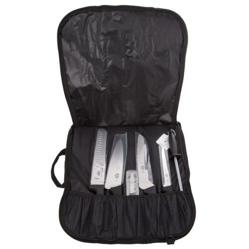 KNIFE SET 6-PC FIBROX W/ROLL