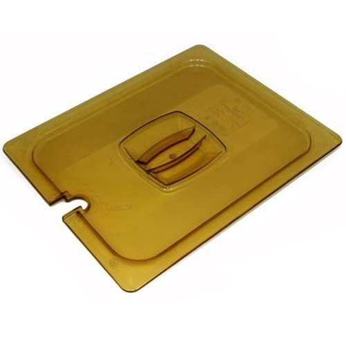 Half Size Amber Food Pan Cover, Notched