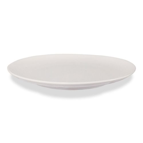 "12"" Round Ceramic Coupe Plate - Pearl White (Case of 12)"