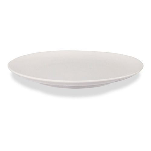 "9"" Round Ceramic Soup/Pasta Plate - Pearl White (Case of 36)"