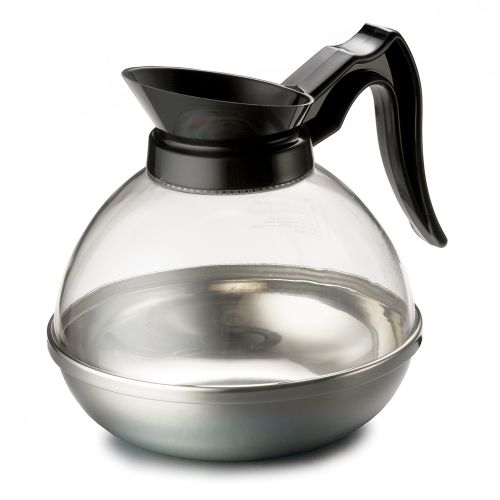 Coffee Pot, Decanter, Regular, 64 oz., Stainless Steel Base, Poly