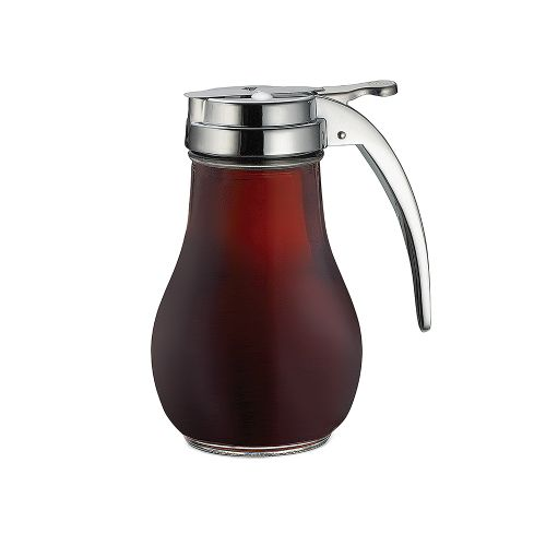 Syrup Dispenser, 14 Oz. Glass/Chrome