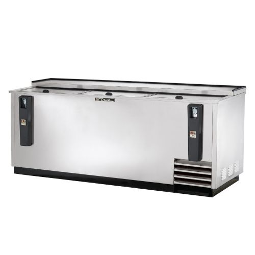 Bottle Cooler, Deep Well, 80-1/2 Inch Wide, Stainless Steel