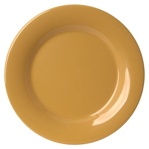 Melamine Wide Rim Plate - Color Yellow
