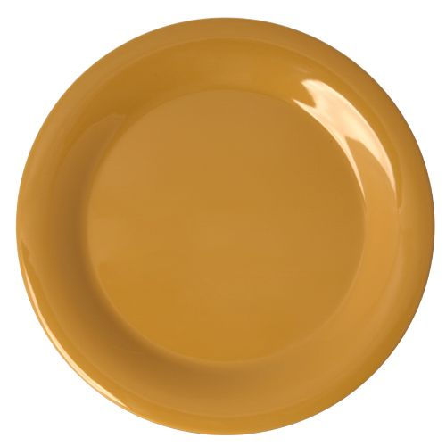 "10 1/2"" Melamine Narrow Rim Plate - Color Yellow"