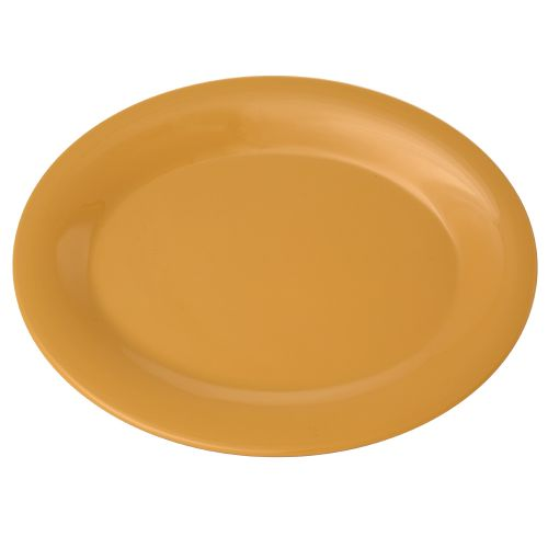 9 1/2 Inch Melamine Oval Platter - Color Yellow