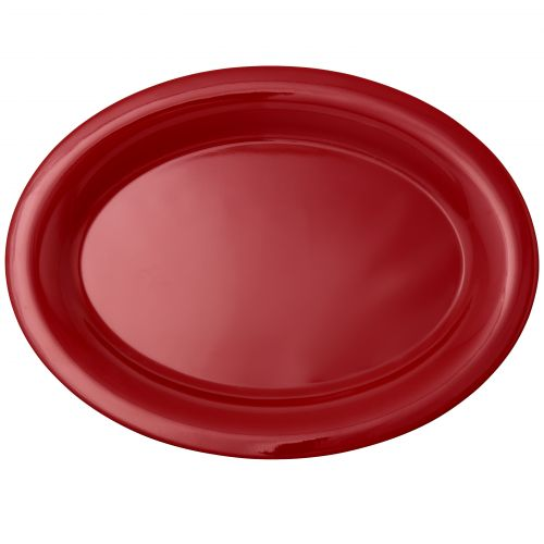 12 Inch Melamine Oval Platter - Color Pure Red