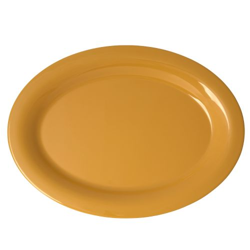 "12"" Melamine Oval Platter - Color Yellow"