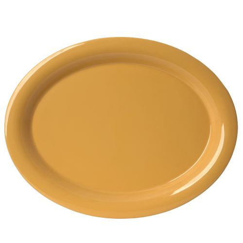 "13 1/2"" Melamine Oval Platter - Color Yellow"