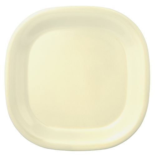 8 1/4 Inch Melamine Rounded Square Plate - Passion Pearl