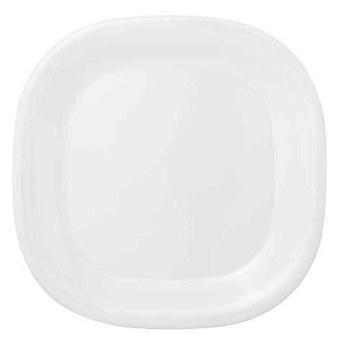 8 1/4 Inch Melamine Rounded Square Plate - Passion White