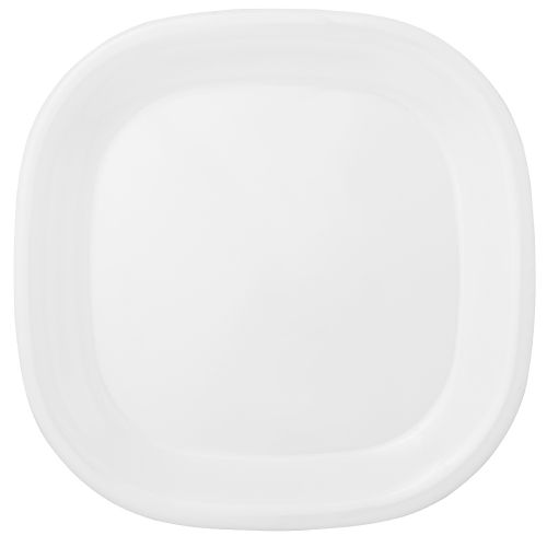 11 Inch Melamine Rounded Square Plate - Passion White