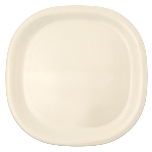 Melamine Rounded Square Plate - Passion Pearl
