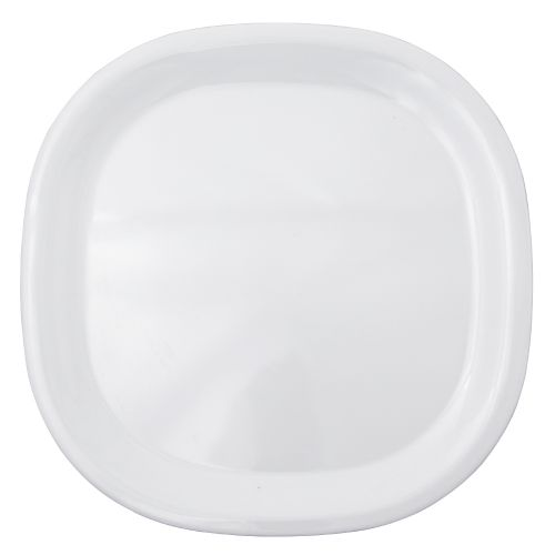 Melamine Rounded Square Plate - Passion White